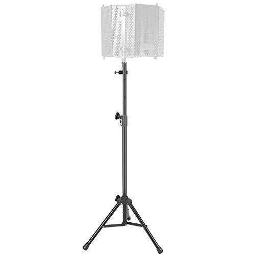 Neewer NW002-1 Wind Screen Bracket Stand with Aluminum Tube, Non-slip Feet, Adjustable Height, 65.2 inches/165.5 centimeters Stand Suitable for Supporting Acoustic Isolation Shield in Studio (Black) (Mic Professional Stand)