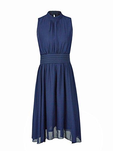 Blooming Jelly - Robe col roulé pour femme Robe de mariée bleu marine Longueur genou Robe
