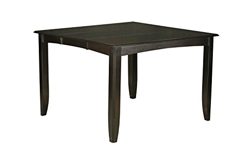 East West Furniture FAT-CAP-T Gathering Counter Height Dining Table with 18-Inch Butterfly Leaf, Cappuccino Finish