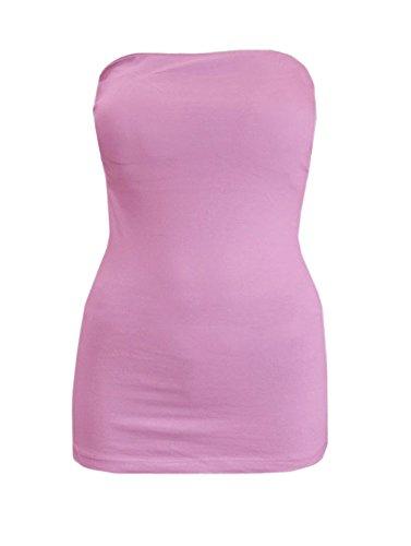 Bozollo-Women-Basic-Stretchy-Cotton-Blend-Strapless-Tube-Top-with-Bra