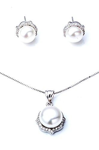 Ana Morales Femme  Argent sterling 925  Argent|#Silver   Perle d'eau douce chinoise