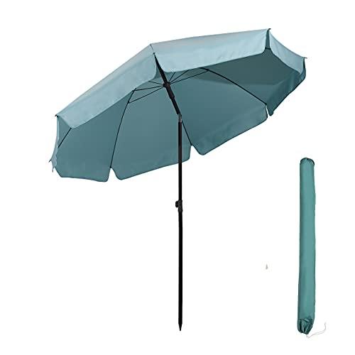 Sekey® sombrilla Parasol para terraza jardín Playa Piscina Patio diámetro 217 cm Protector Solar UV25+ Azul