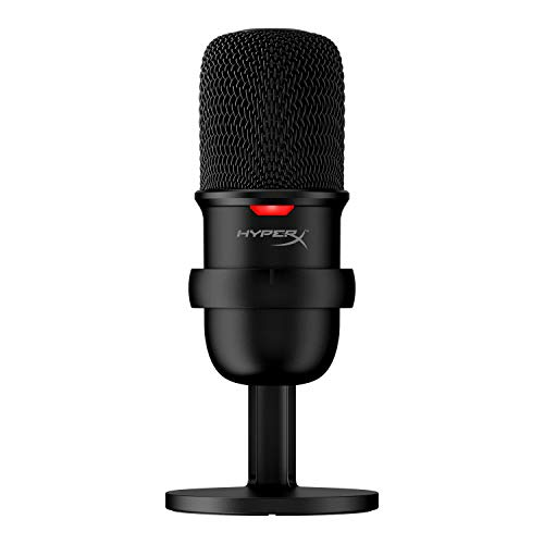 HyperX SoloCast – USB Condenser Gaming Microphone, for PC, PS4, and Mac, Tap-to-Mute Sensor, Cardioid Polar Pattern, Gaming, Streaming, Podcasts, Twitch, YouTube, Discord, Black