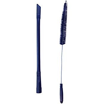 Dryer Cleaning Kit - Generic Vacuum Hose Attachment Flexible and 28 inch Flexible Dryer Vent Cleaning Brush and Refrigerator Coil Brush.