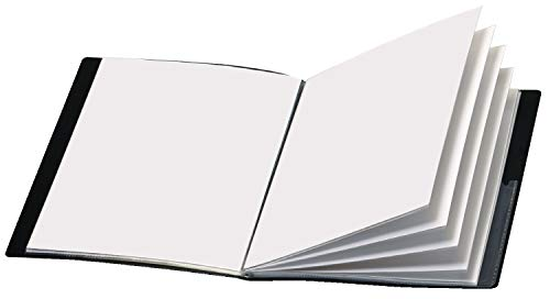 Cardinal ShowFile Display Book w/Custom Cover Pocket, Black, Letter Size Sleeves, 12 Sleeves, 1 per Box, (50132)