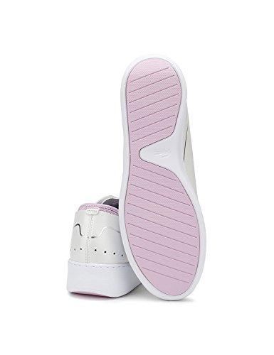 Lacoste Damen Weiß / Light Violett Eyyla 118 1 Sneakers White