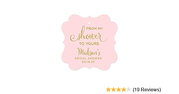 d3b331f95921 Amazon.com  Andaz Press Personalized Baby and Bridal Wedding Shower Frame  Party Favor Gift Tags
