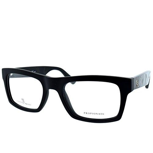 Alexander McQueen MCQ 0029 RLM Matte Black Square - Eye Frames Mcqueen Alexander