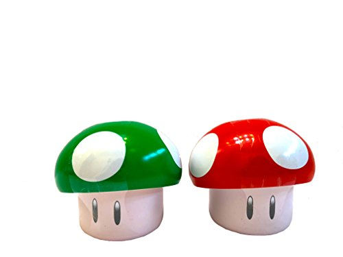 (NEW Super Mario Novelty Mushroom Cherry and Apple Sours Perfect Party Favor Candy)