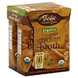 Pacific Natural Foods Organic Chicken Broth, Free Range, (4)-8 Oz Containers, (Pack of 6)