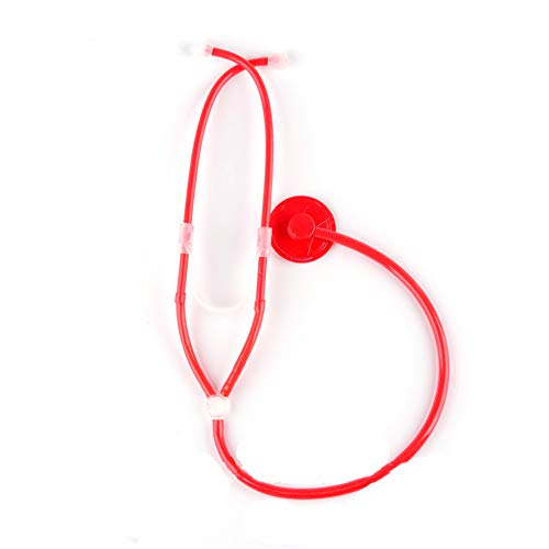 DierCosy Nurse Stethoscope Halloween Role Play Cosplay Costume Props Adults Nurse Accessories Halloween Party Supplies(1piece Red) Halloween Decorations ()