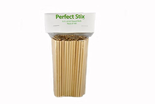 "Perfect Stix Craft Dowel 55316 Wooden Craft Dowel, 5.5"" x 3/16"" (Pack of 100)"