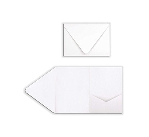 A7 Pocket Invitations (5 x 7) - 80lb. Bright White (130 Qty.) by Envelopes Store