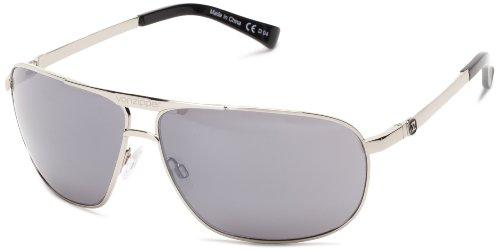 VonZipper Skitch Square Sunglasses,Silver,One ()