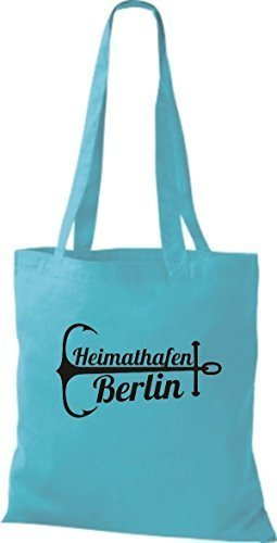 ShirtInStyle Bolsa de tela Bolsa de algodón Puerto Berlín Sky
