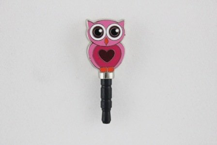 I-takz - Pink Owl - securely plug into your smartphone's headphone jack and prevent tiny dust particles from entering your port by I-takz, Inc.