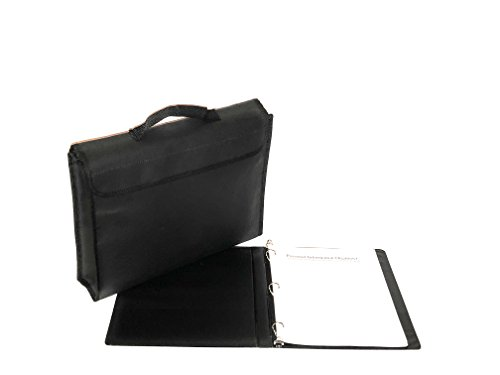 Fireproof Document Bag with Household Inventory List/Record Book for Insurance; Fire/Water Resistant Bag keeps Documents, Money, Jewelry and Information Safe