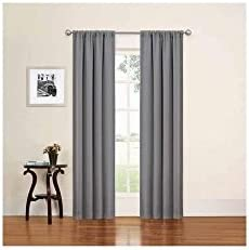 Eclipse Phoenix Absolute Zero Blackout Window Curtain Panels, Set Of 2