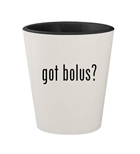 got bolus? - Ceramic White Outer & Black Inner 1.5oz Shot Glass