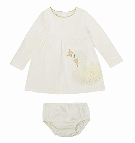 Mud Pie Princess Swan Baby Girls Dress and Bloomers (6-9 Months)