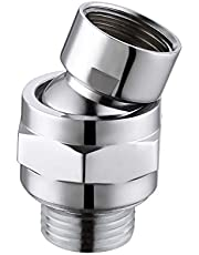 KES PSB101-CH słuchawka prysznicowa, deszczownica, przegub kulowy, część zamienna, głowica kulowa do ramienia prysznicowego, regulator strumienia, regulowana głowica prysznicowa, mosiężna G 1/2, polerowany chrom, PSB101-CH