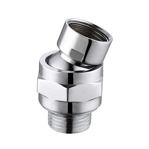 KES Shower Connector Ball Joint Shower Head Swivel Ball Adapter Brass Adjustable Shower Arm Extension Universal Component Polish Chrome, PSB101-CH (Adapter Head Shower)