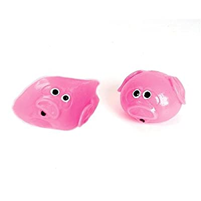 "2.5"" Splat Pig Ball (Package of 12): Toys & Games"