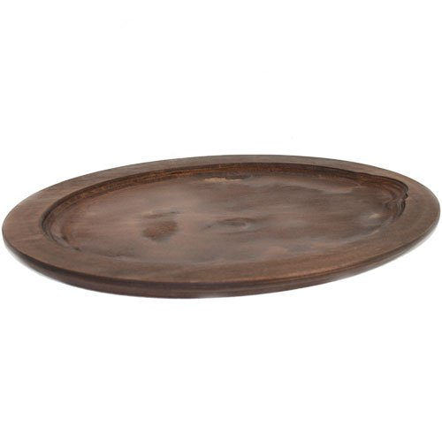 Fajita Griddle Oval Lacquered Birch Underliner Lodge UOPB 12953-6904