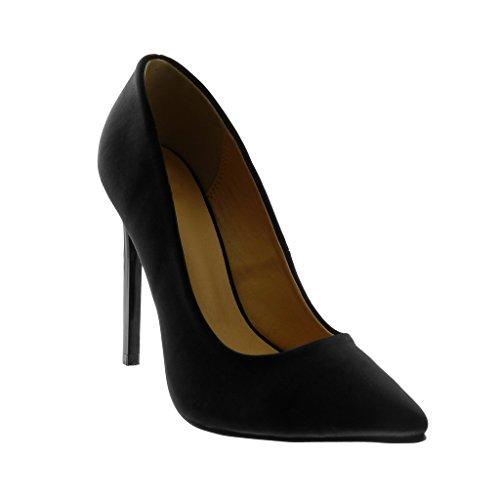 Angkorly Damen Schuhe Pumpe - Stiletto - Dekollete Stiletto High Heel 12 cm Schwarz