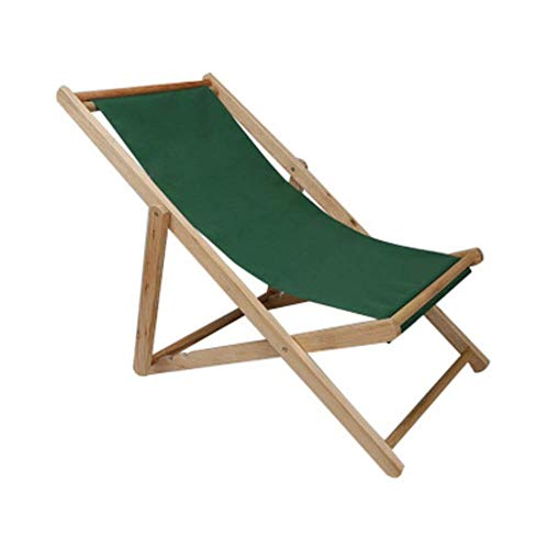 KJRJZDY Lounger/Portable Chair, Hardwood Keruing Wood, Easy to Fold and Carry, Perfect for Camping (Color : Green)