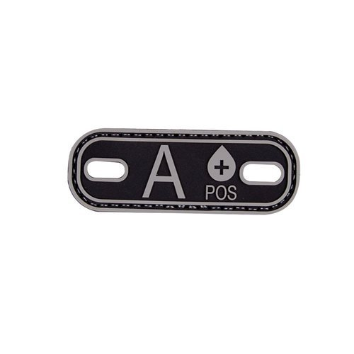 5ive Star Gear Blood Type A+ Morale Patch, Black/Grey ()