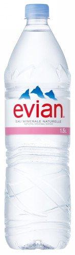 伊藤園 Evian(エビアン) ミネラルウォーター 1.5L [正規輸入品](景品付)×12本