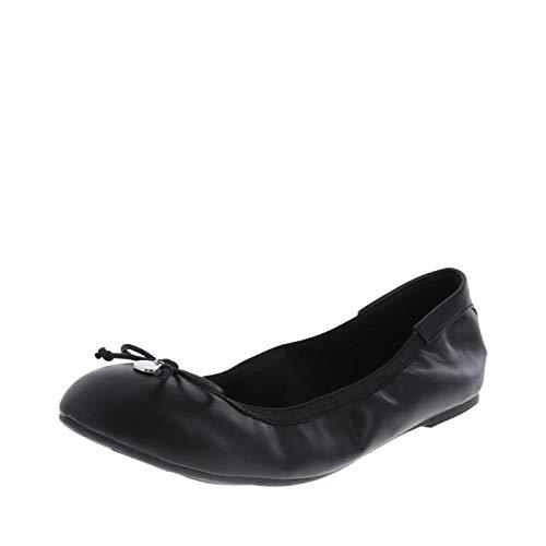 (dexflex Comfort Women's Black Women's Caroline String Tie Flat 10 Wide)