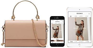 pink Shoulder bag small square bag chain bag mini bag female personality chain leather handbag