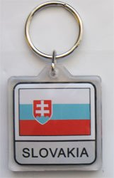 Slovakia - Country Lucite Key Ring (Lucite Rings Band)