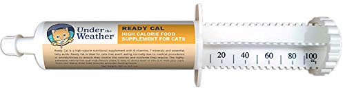 - Under the Weather Pets | Ready Cal for Cats 3.5oz | High Calorie Nutritional Supplement for Weight Gain | 9 Vitamins, 7 Minerals, Fatty Acids | Palatable Natural Fish & Malt Flavor | Cats Not Eating |
