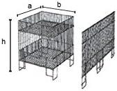 CESTA DE PROMOCI/ÓN DE 63 X 63 cm BANCARELLA DEP/ÓSITO