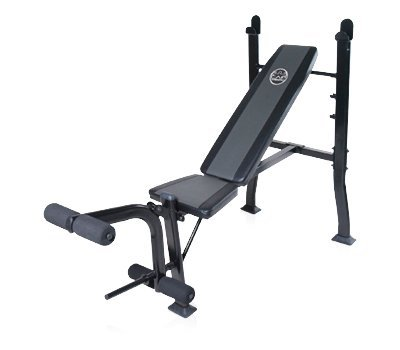 Deluxe Standard Bench with 100 lb Weight Set - CAP Barbell by AMZ