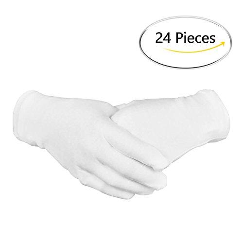 "BONTIME 12 Pairs 8.6"" Large White Cotton Safety"