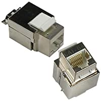 InstallerParts Cat 6A Shielded Keystone Jack - Professional Series Fully Shielded - For STP RJ45 Network Data Connections
