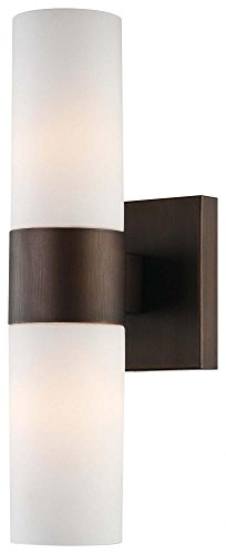 Minka Lavery 6212-647 2 Light Wall Sconce, Copper Bronze Patina Finish Copper Bathroom Vanity Light