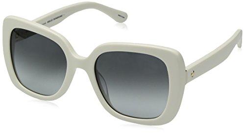 Kate Spade Women's Krystalyn/s Square Sunglasses, IVORY/DARK GRAY GRADIENT, 53 mm