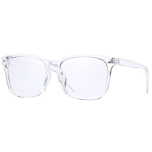 Pro Acme New Wayfarer Non-prescription Glasses Frame Clear Lens Eyeglasses (Transparent)