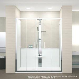 Cabina de ducha Revolution Novellini 140 x 70 cm con puertas de ...