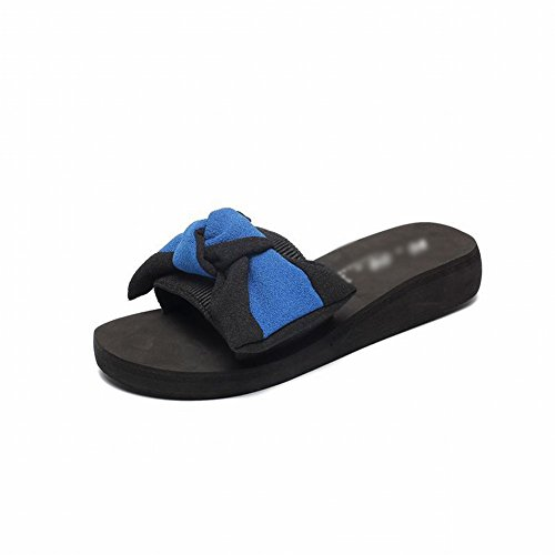 Infradito Di Parola con Pantofole Indossano 40 e Sandali Pantofole con Selvatici Moda Slip Le Di Fiori Blu Donne Beach FqwxIfCXn