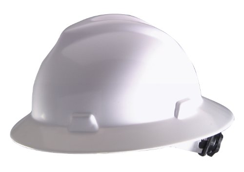 Safety Works 10006318 Full Brim Hard Hat, White Shell White Contractor