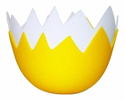 Lamson Egg Shell Egg Poacher, Set of 2, white/yellow, silicone