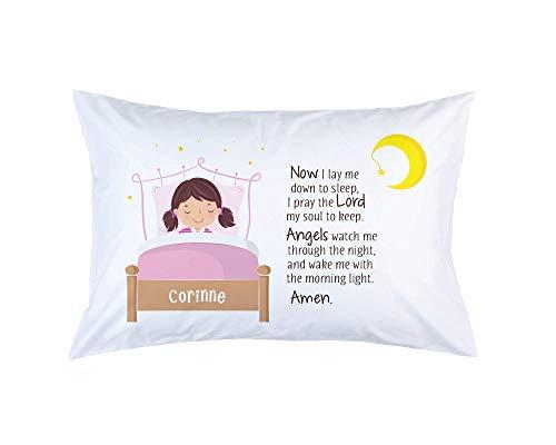 (Now I Lay Me Down To Sleep Girls Prayer Pillowcase)