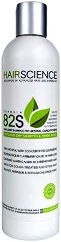 Hair Science Formula 82S | Hair Loss Shampoo with Natural Conditioners | Contains DHT-blocker: Saw Palmetto + Panthenol, Biotin, Phytokeratine, Vitamin E, Babassu Oil, Seaweed Extract & Amino Acids