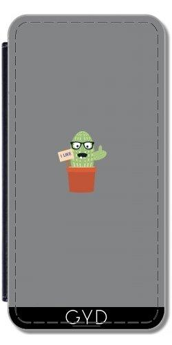 Leder Flip Case Tasche Hülle für Apple iPhone 6/6S - Nerd Kaktus by ilovecotton